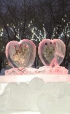 Ледовый городок в парке 10-летия Ангарска