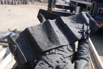 Памятник первостроителям. Установка. _4